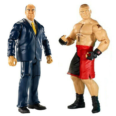 2x WWE Paul Heyman & Brock Lesnar Wrestling Action Figure Kid Toy Pack