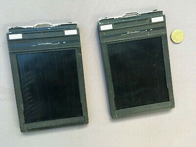 2 x Vintage RITEWAY Graphic FILM HOLDER, 4 x 5, Made In USA- Camera, Photography