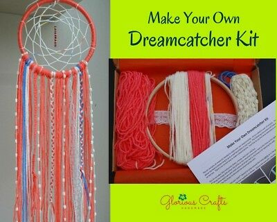 Dreamcatcher Craft Kit, Coral, Boho, Birthday, Christmas, Gift, Craft Party