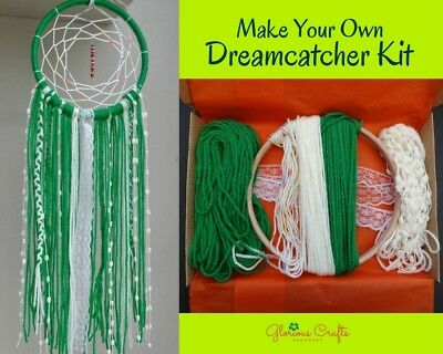 Dreamcatcher Kit, Boho, Crafts Kit, Kelly Green, Birthday, Gift, Christmas