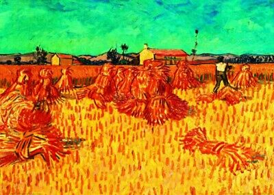 Vincent Van Gogh - Wheat Field With Sheaves, 1888 Art Print (28x20inches) #36230