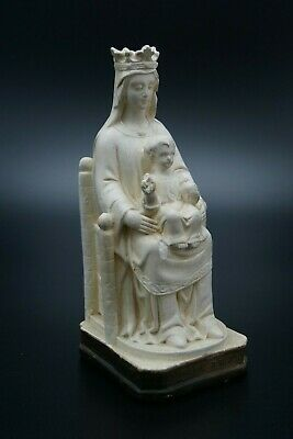 † 19Th Bvm - Our Lady Of Chartres Plaster Chalkware Clerics Pilgrimage France †