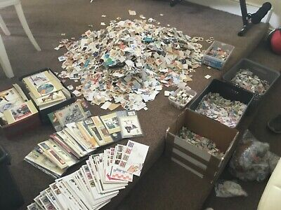 1.25kg GLORY BOX OF British stamps LOTS OF STUFF the great british sorter pax