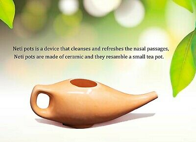 WC_Ayurvedic Jal Neti Pot for Sinus Congestion and Nasal Cleansing Non-Corrosive