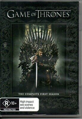 Game of Thrones The Complete First Season 1 - DVD - 5 Disc Set