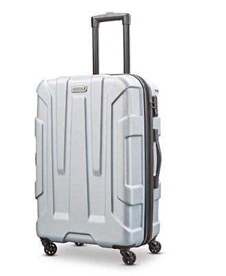 Samsonite Centric Expandable PC Hardside Luggage Spinner Wheels Carry On Silver