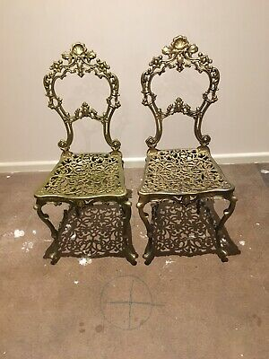 Decorative French Style Brass Chair