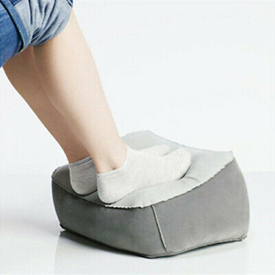New Comfortable Foot Rest Relaxing Pillow Cushion PVC Air for Travel Office Home