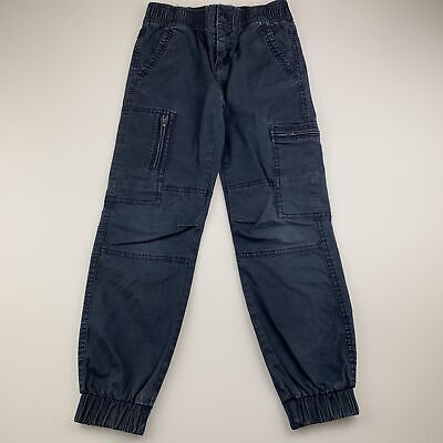 Boys size 7, Country Road, navy stretch cotton cargo pants, elasticated, FUC