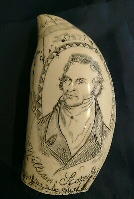 Vintage, Whaletooth Faux Scrimshaw, Whitby