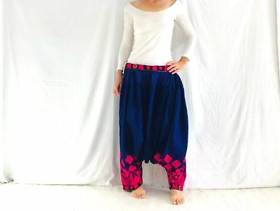 Vintage Banjara Harem Pants. Embroidered Adjustable Waist