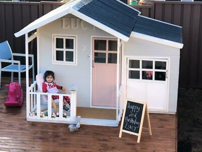 Tuff Cubbies Malibu (LARGE) Timber Kids outdoor Cubby House Toy Playhouse (GIFT)