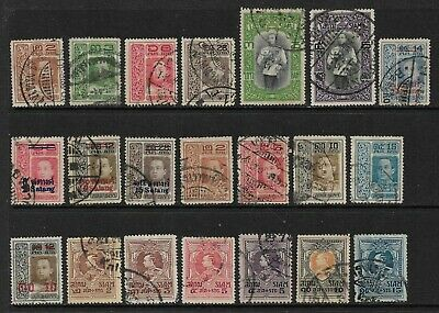 THAILAND SIAM Very Interesting Early All Used Issues Selection (Aug 069)