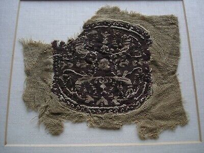 Ancient Romano-Egyptian Decorative Coptic Textile Fabric c. 100 - 400 A.D.