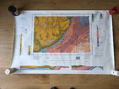NEWPORT Geological Survey of Great Britain Map solid sheet 249