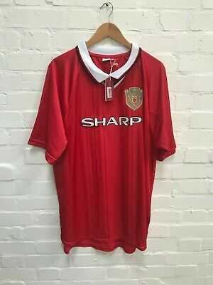 Manchester United Official Men's Retro Home Shirt - XXL - New with Defects