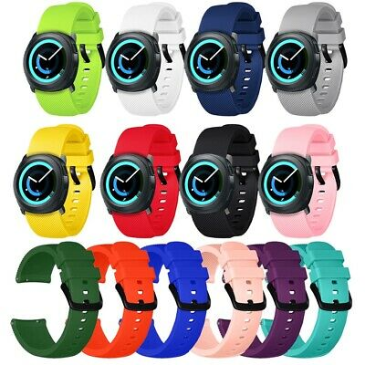 For Samsung Galaxy Active Watch Silicone Soft Watch Band Wristband Strap 20mm