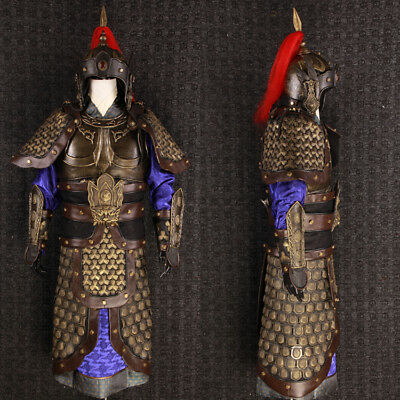 Asian Antiques China Three Kingdoms General helmet and armor coat clothing