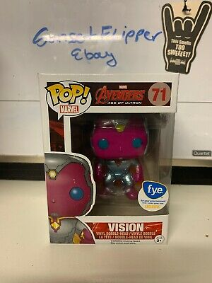 Funko Pop Marvel Avengers Age Of Ultron — Vision 71 Metallic FYE Exclusive Rare