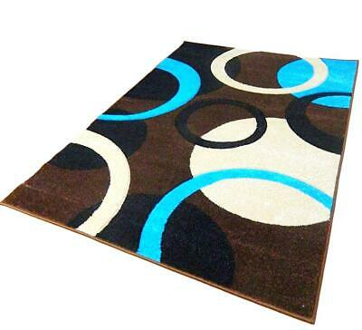 Clearance Teal Brown Hand Carved Soft Heavy Extra Large Area Rug Mat Sale