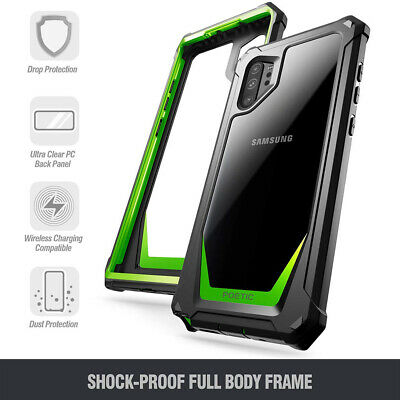 Galaxy Note 10 Plus Case,Poetic [Hybrid] Clear TPU Bumper Shockproof Cover Green