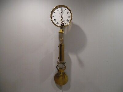 Rare Brass and Invar steel, single weight driven, time only, Jeweler's Regulator