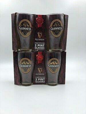 2 Guinness 2017 Ruby Red Collection 2 Pint Glass Pack