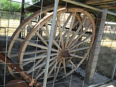 Antique cart or wagon wheels 1 Pair