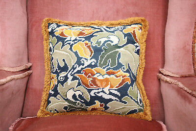 Beautiful Autumnal Shades Vintage Feather Filled Country House Tapestry Cushion