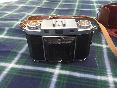 Zeiss Ikon Contina II Folding Camera with Case