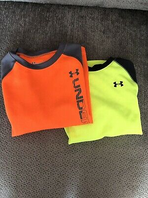 Lot Of 2 Toddler Boys Long Sleeve Under Armour T-shirts Tops Size 4T