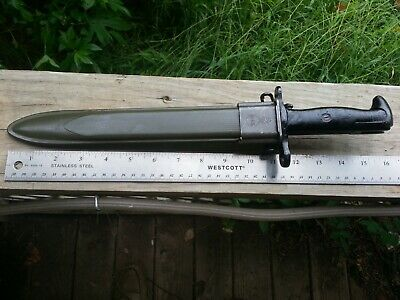 "Original USGI WW2 ""PAL"" M1 Garand Bayonet with USGI Scabbard 1943"