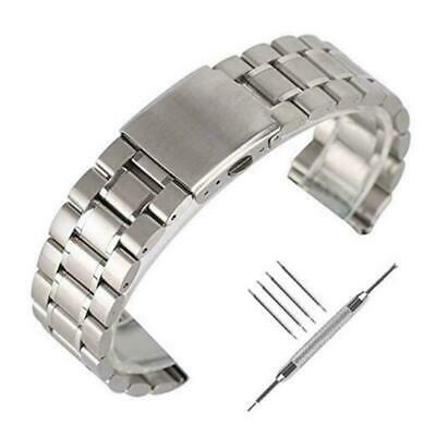22mm Solid Stainless Steel Watch Strap YISUYA Replacement Wrist Band Straight En