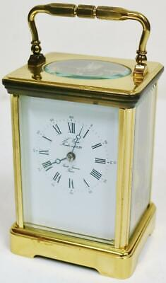 Vintage French L'Epee 8 Day Gong Striking Carriage Clock Platform Escapement