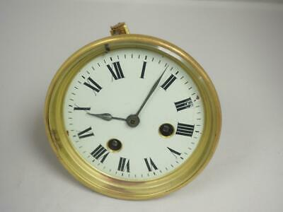 Antique French 8 Day Striking Clock Movement White Porcelain Dial Henry Marc
