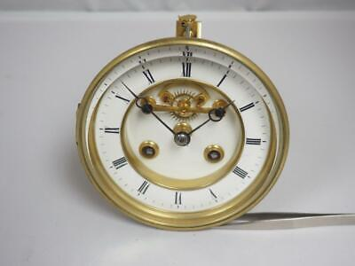 Antique French 8 Day Striking Clock Movement Visible Escapement Clean & Oiled