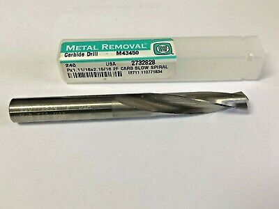 METAL REMOVAL Carbide Straight Flute Drill #54 140° M43516