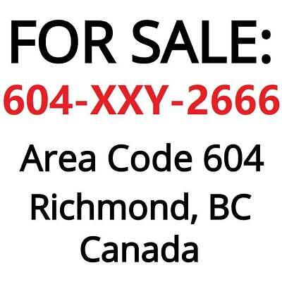 Richmond, BC : 604-XXY-2666 Business Number for sale