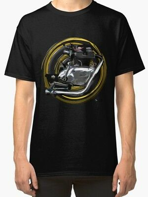 Royal Enfield Continental GT 250cc vintage Motorcycle engine TShirt INISHED
