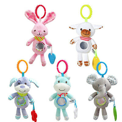 Baby Kids Hanging Toys Stroller Rattles Plush Doll Infant Carrier Accessories LH