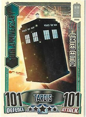 Doctor Who Alien Attax 50th Limited Edition Card LE1 50th Anniversary Tardis