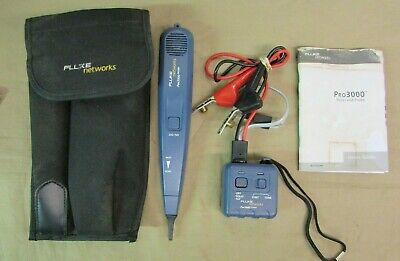 Fluke Networks Pro3000 26100-900 Tone Generator and Probe Kit & Case 26200-900