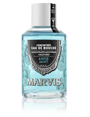 Marvis Concentrated Mouthwash Aniseed Mint 120ml Oral Mouth Wash Hygiene Care
