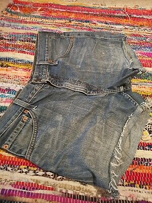 Vintage Womens Levis Denim High Waisted Shorts Jeans Hotpants, Size 10