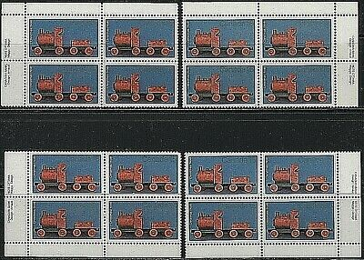 #839 * 4 Inscription Blocks * MNH * Antique Toys *