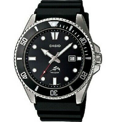 Casio MDV106-1A, Men's Watch, Black Resin , Date, 200 Meter NEW WITH OEM BOX TAG