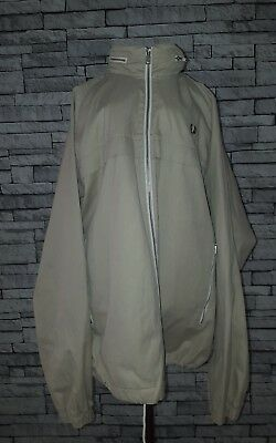 Mens Size XL Large Vintage 1990's Fred Perry Cream Beige Zipped Jacket Mod Ska