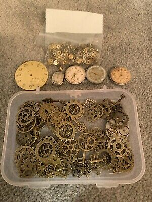 Watch parts and gears for Steampunk Jewelry