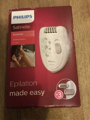 Philips Satinelle Essential Hp6423/02compact Epilator For Legs Brand New Sealed