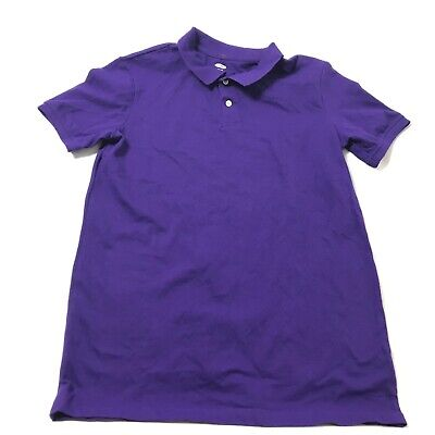 Old Navy Boys Polo Shirt Size XXL 18 Husky Short Sleeve Purple Pique New